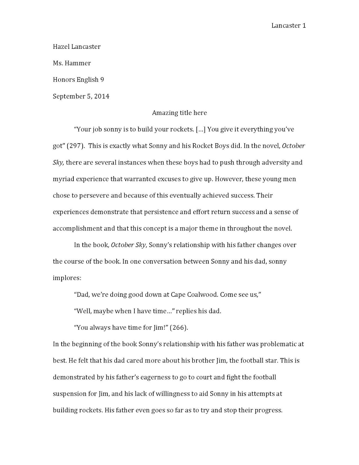sky essay paul sutinen essay archives john kay theme essay  hammer time honors period 1 class essay