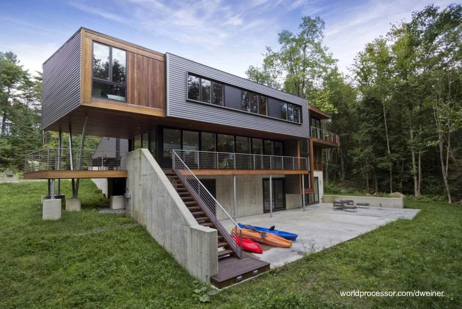 Casas de estructura de madera perfect casa en pirque - Estructura casa de madera ...