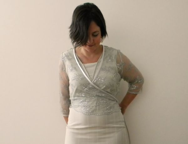 sewing lace cardigan