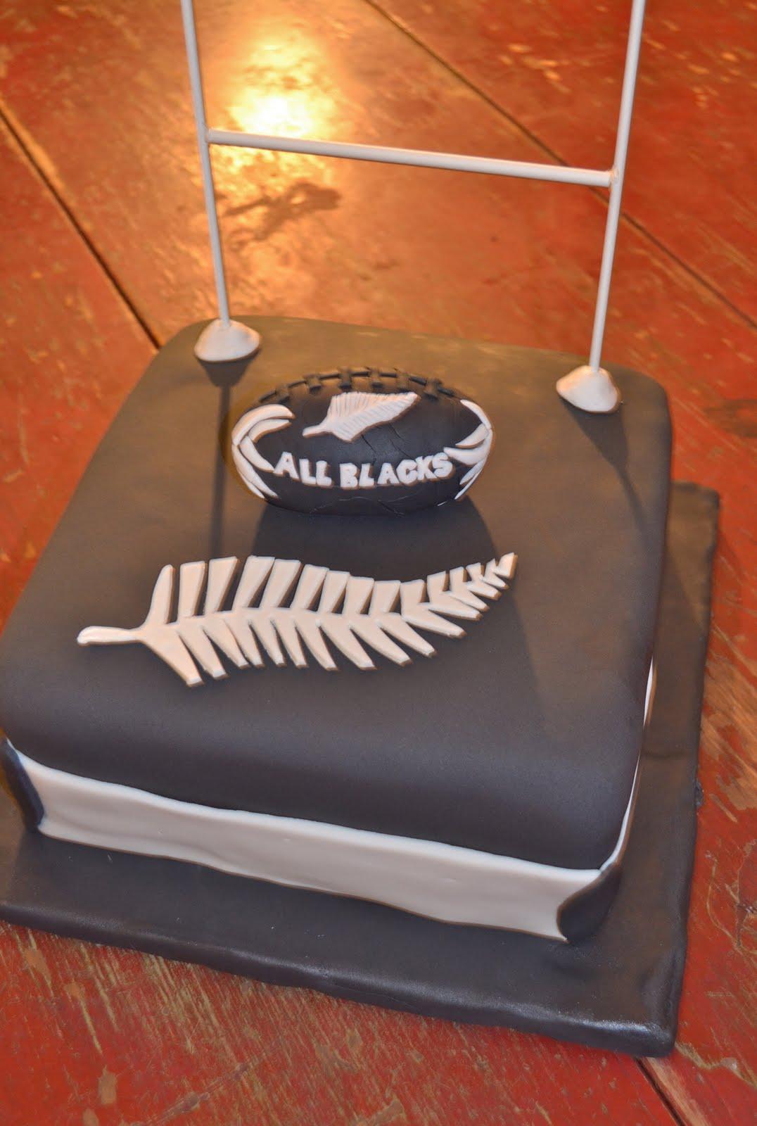 Birthday Cake Ideas Nz : Emily s Custom Bakeshop: Rugby Groom s Cake