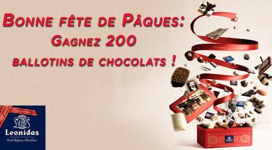 200 ballotins de chocolats