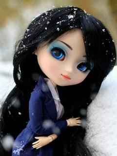 Pretty Cute Doll 240x320 Mobile Wallpaper