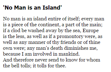 no man is an island john donne essay