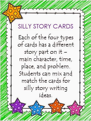 http://www.teacherspayteachers.com/Product/Silly-Story-Choice-Cards-1527241