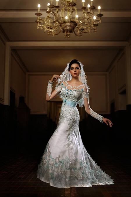 Kebaya Pengantin Modifikasi Inar Semi Bridal Putih title=