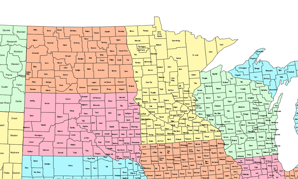 East Us Map With County - Free us county maps