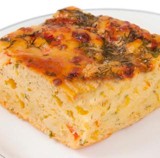 Torta salgada de amido de milho light
