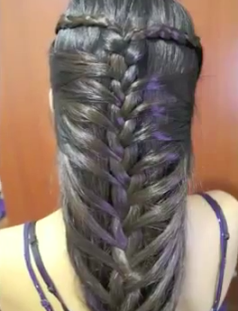 Mermaid French Braid Hairstyle Tutorial - Full Video Tutorial