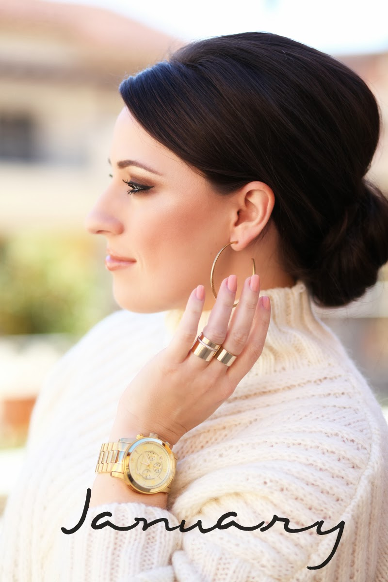 michael-kors-watch-chic-updo-gorjana-gold-stack-rings-king-and-kind-fashion-blogger-san-diego
