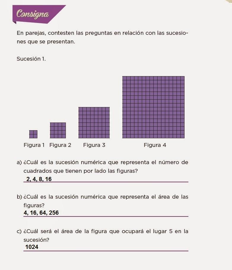 Respuestas No basta con mirar - Desafios matemáticos 4to Bloque 5 2014-2015