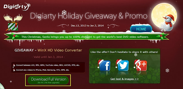 WinX HD Video Converter Giveaway