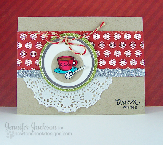 Coffee Card by Jennifer Jackson for Coffee lovers blog hop | Love à la Carte Stamp set by Newton's Nook Designs