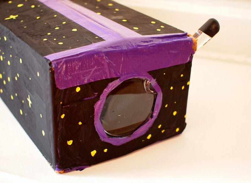 Upclose view of DIY iPod projector