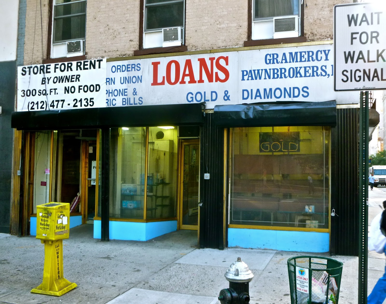 PAWN STORE WAITING FOR PAWN-SHOP TO OPEN MONEY LENT PAWNBROKERS OF NEW YORK