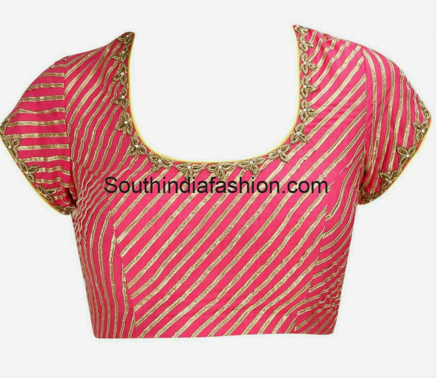 gota work blouse