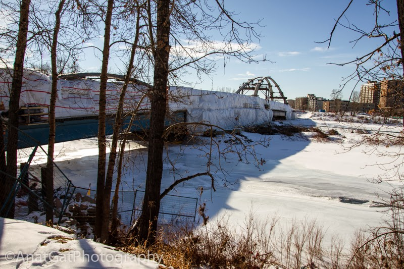 Download this Bridge Link Between The North And South Shores Bow River picture