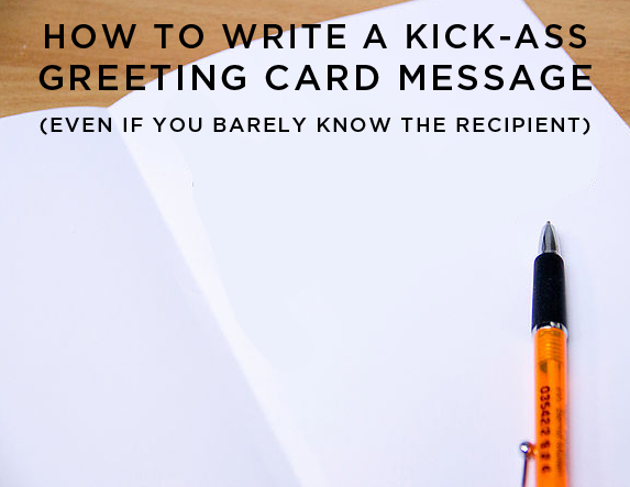 Things By Bean Blog How To Write A Kick Ass Message In A Greeting