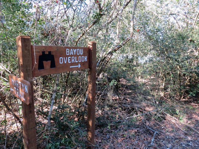 Overlook sign at Armand Bayou Nature Center.