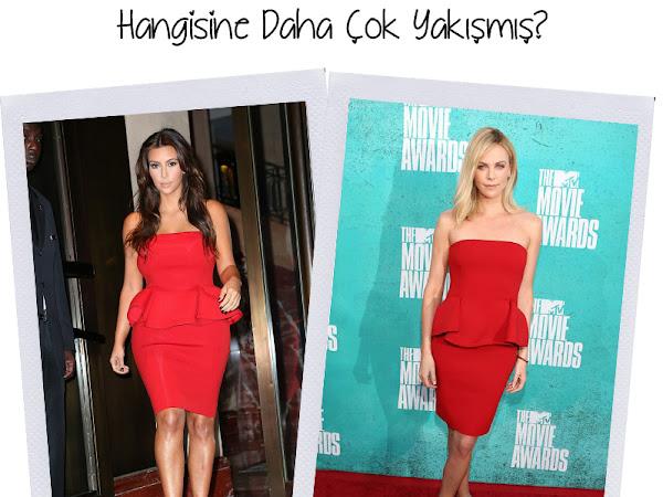 Hangisine Daha Çok Yakışmış? | Kim Kardashian vs Charlize Theron