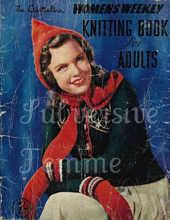 1940's Knitting pattern Parka with Hooded Scarf