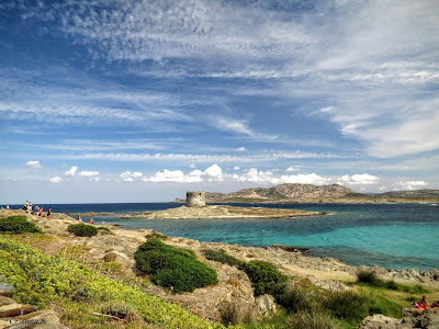 "Praia ""La Pelosa"" na Sardenha por Cristina Sanna"