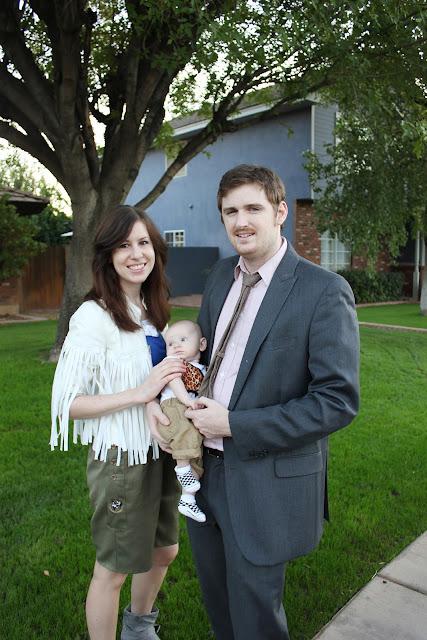 Ferris Buehler costume family baby