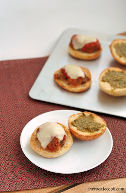 Mini Meatball Sliders with Pesto