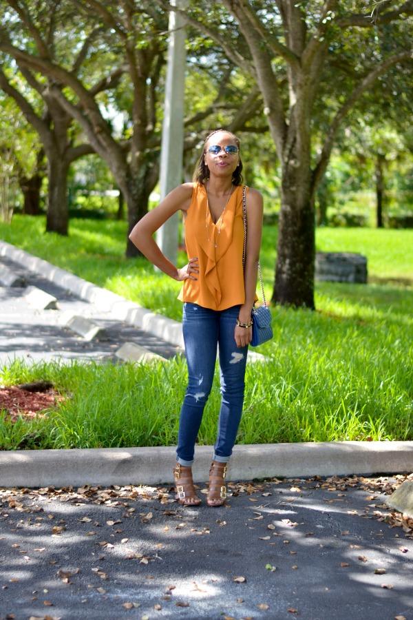 Work Vs. Play: Zara Ruffled Blouse | Fall Style