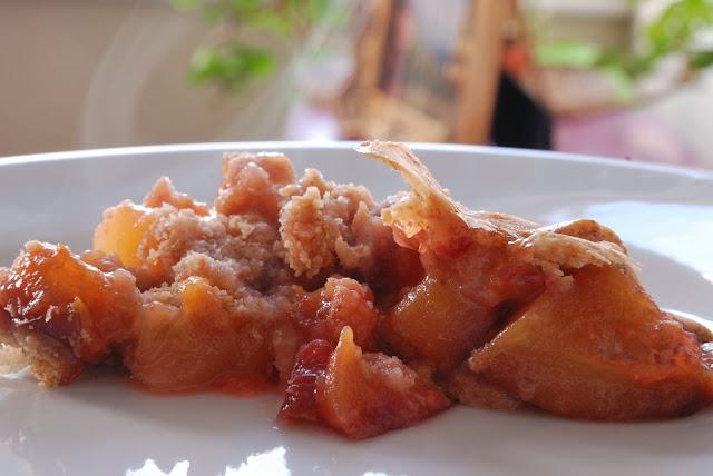 recipe old style pear plum tart