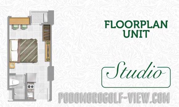 Tipe Studio Apartemen Podomoro Golf View Depok
