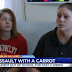 Teen facing assault and battery charges for throwing a carrot at her school teacher.