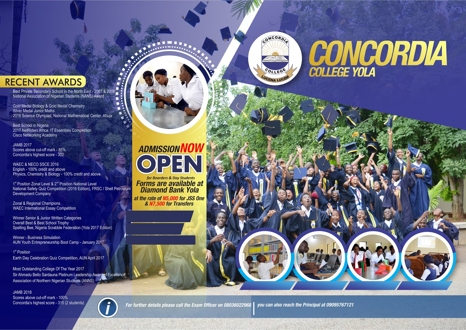 Concordia College JSS1 ADMISSION!