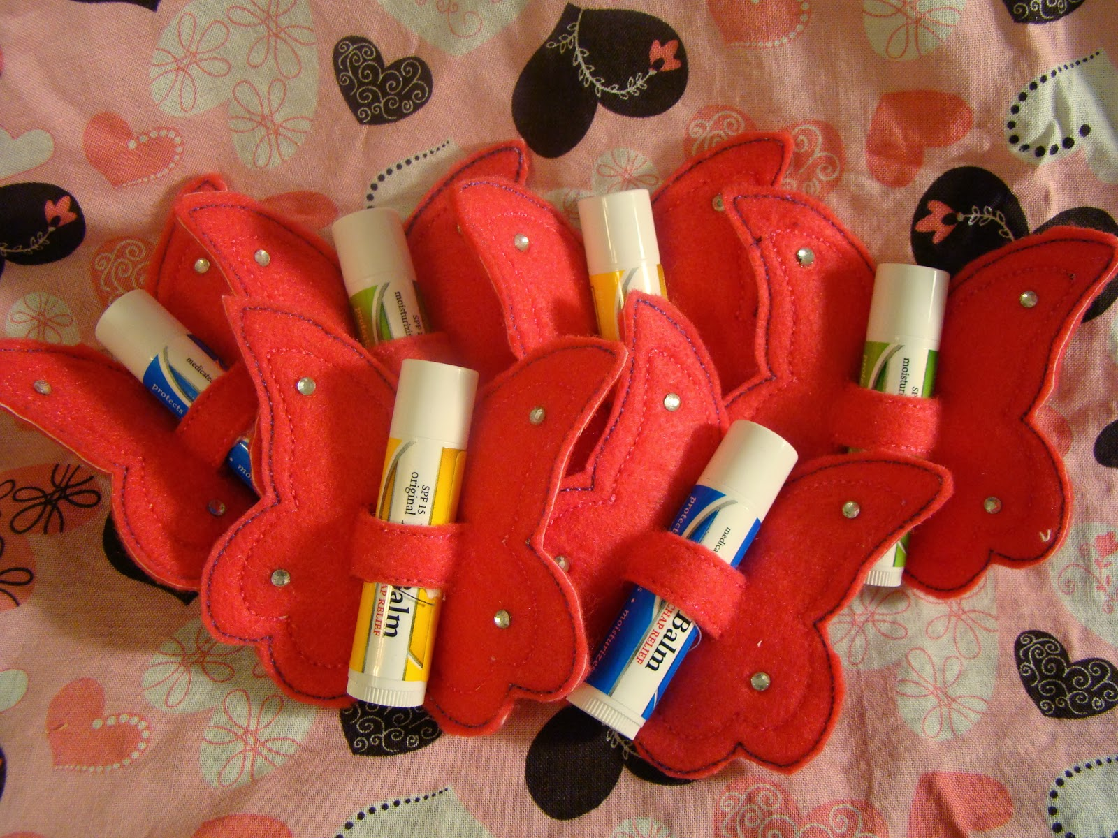 Sew Totally Tara Butterfly Chapstick Valentines Day Gifts