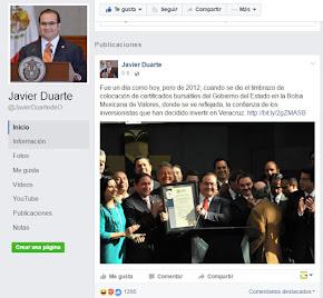 REACTIVAN PERFIL DE FACEBOOK DE JAVIER DUARTE