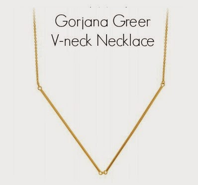 Gorjana Greer V-neck Necklace Rocksbox & Barbies Beauty Bits