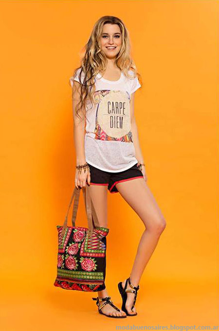 Moda verano 2015 looks con shorts Sophya.