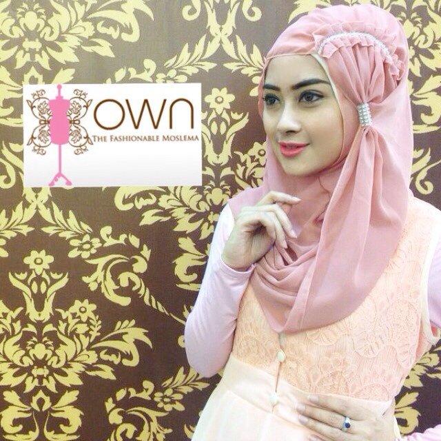 Model 1. Hijab Pashmina Modern Instan image