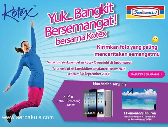 Kontes Foto Bangkit Bersama Kotex Berhadiah 3 iPad
