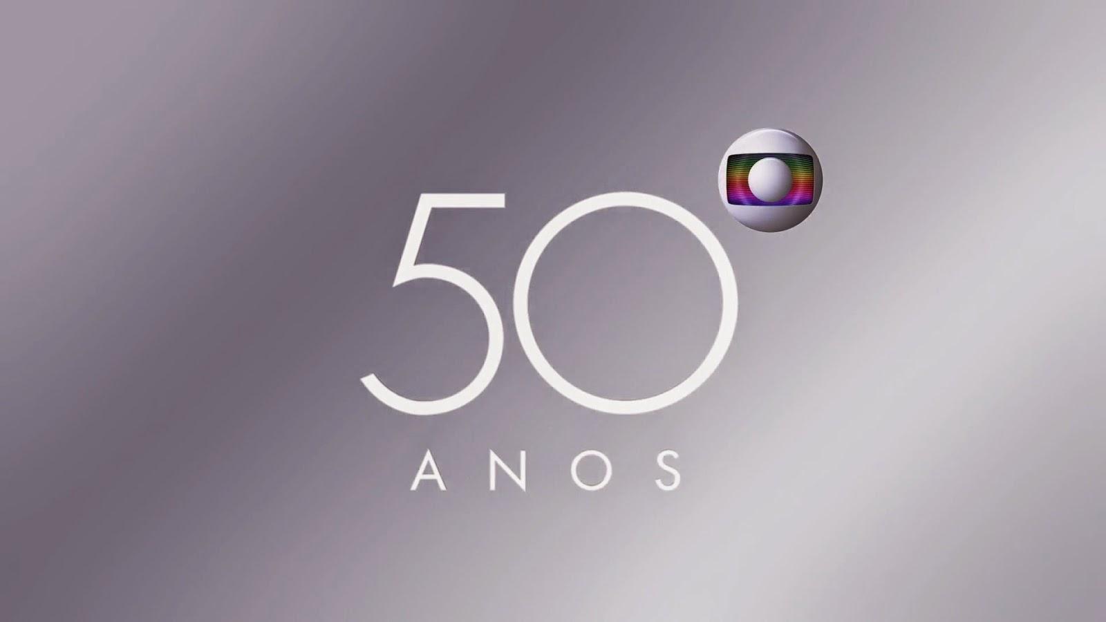 Caf com not cias 10 anos rede globo completa 50 anos - Globos 50 anos ...