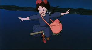Kiki practicing flying Kiki's Delivery Service 1989 animatedfilmreviews.blogspot.com