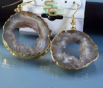 Geode Gold Earrings
