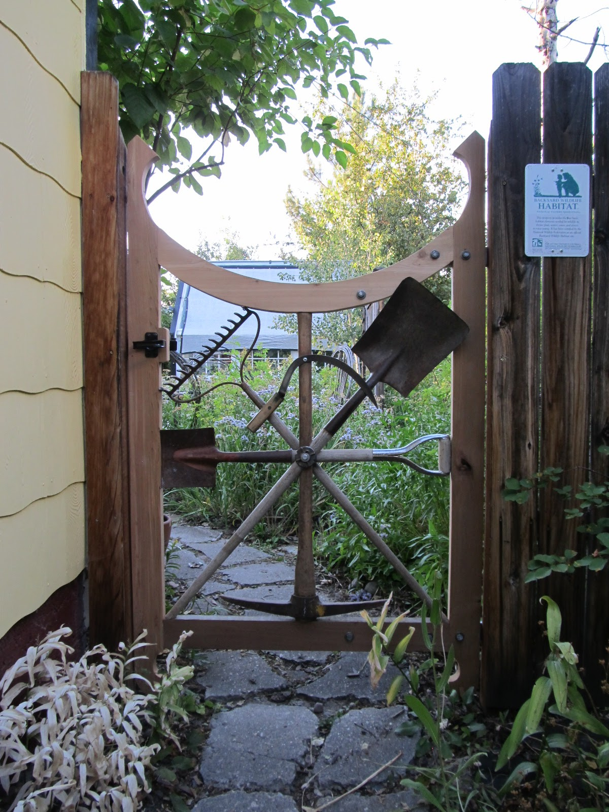 Montana wildlife gardener a repurposed garden tool for Tools for backyard gardening