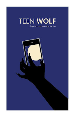 teen wolf poster showing werewolf hand holding a smart phone