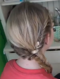 Cute and Easy Hairstyle for Long Hair - Fishtail Braid