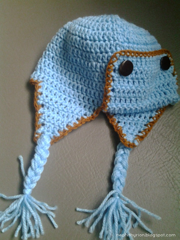crochet baby kamikaze hat (with earflaps)