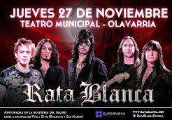 """RATA BLANCA EN EL """"TEATRO MUNICIPAL"""" - 27/11/2014"""