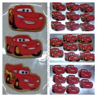 lightning msqueen disney cars fancy cookies