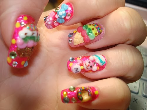 One Hundred Styles 3d Nail Art Designs Gallery