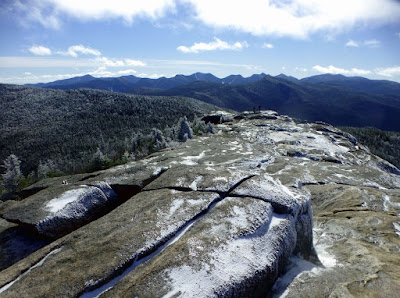 View of the Great Range and Marcy from Cascade, Monday 10/26/2015.  The Saratoga Skier and Hiker, first-hand accounts of adventures in the Adirondacks and beyond, and Gore Mountain ski blog.