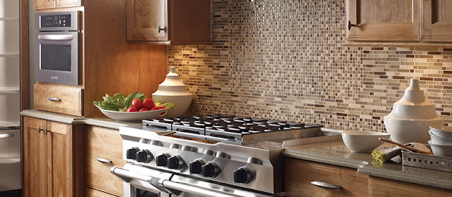 A kitchen backsplash is both functional and decorative